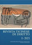 Cover-Bild zu Pedroli, Andrea (Weitere Zus.): Rivista ticinese di diritto I-2021