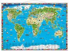Cover-Bild zu Illustrierte Weltkarte. Erlebniskarte mit Metall-Beleistung von Schönhoff, Doris