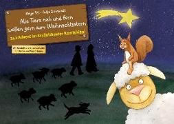Cover-Bild zu Alle Tiere nah und fern wollen gern zum Weihnachtsstern. Adventskalender von Fell, Helga