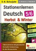 Cover-Bild zu Stationenlernen Deutsch - Herbst & Winter / Klasse 5-6 (eBook) von Weimann, Viktoria