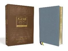 Cover-Bild zu Zondervan,: NASB, Thinline Bible, Large Print, Genuine Leather, Buffalo, Blue, Red Letter, 1995 Text, Art Gilded Edges, Comfort Print