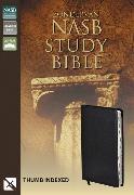Cover-Bild zu Zondervan,: NASB, Zondervan NASB Study Bible, Bonded Leather, Black, Thumb Indexed