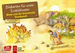 Cover-Bild zu Mose und der brennende Dornbusch. Kamishibai Bildkartenset von Nommensen, Klaus-Uwe