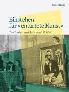 Cover-Bild zu Kreis, Georg: Einstehen für «entartete Kunst»