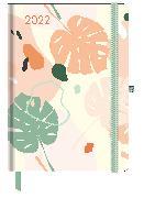 Cover-Bild zu GreenLine Diary Happy Vibes 2022 - Buchkalender - Taschenkalender - 16x22 von teNeues Calendars