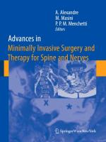 Cover-Bild zu Advances in Minimally Invasive Surgery and Therapy for Spine and Nerves von Alexandre, Alberto (Hrsg.)