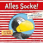 Cover-Bild zu Alles Socke! (Alles erlaubt?, Alles Eis!, Alles gefunden!, Alles zu spät!, Alles echt wahr!, Alles nass!, Alles Bitte-danke!, Alles verlaufen! (Kleiner Rabe Socke) (Audio Download) von Rudolph, Annet
