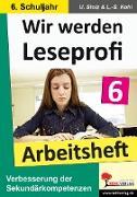 Cover-Bild zu Wir werden Leseprofi 6 - Arbeitsheft (eBook) von Stolz, Ulrike