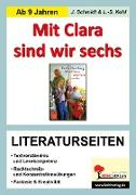 Cover-Bild zu Mit Clara sind wir sechs - Literaturseiten (eBook) von Schmidt, Jasmin