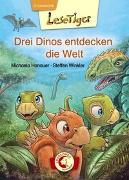 Cover-Bild zu Lesetiger - Drei Dinos entdecken die Welt von Hanauer, Michaela