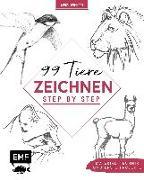 Cover-Bild zu Kunst Kompakt: 99 Tiere zeichnen Step by Step von Edition Michael Fischer