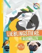 Cover-Bild zu Tierisch geometrisch - Malen nach Zahlen: Lieblingstiere ausmalen von Edition Michael Fischer