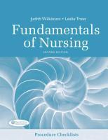 Cover-Bild zu Fundamentals of Nursing Procedure Checklist von Wilkinson, Judith M.
