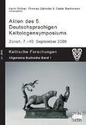 Cover-Bild zu Akten des 5. Deutschsprachigen Keltologensymposiums Zürich, 7. - 9. September 2009 von Stüber, Karin (Hrsg.)
