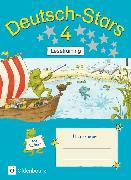 Cover-Bild zu Deutsch-Stars, Allgemeine Ausgabe, 4. Schuljahr, Lesetraining, Übungsheft, Mit Lösungen