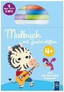 Cover-Bild zu Malbuch mit Zauberstiften 4+ (blau)