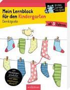 Cover-Bild zu Mein Lernblock für den Kindergarten - Denkspiele von Lang, Hannah