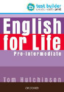 Cover-Bild zu English for Life. Test Builder. Pre-intermediate von Hutchinson, Tom
