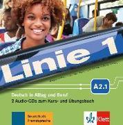 Cover-Bild zu Linie 1 A2.1. 2 Audio-CDs zum Kurs- und Übungsbuch von Dengler, Stefanie