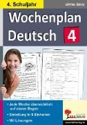 Cover-Bild zu Wochenplan Deutsch 4. Schuljahr