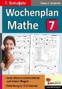 Cover-Bild zu Wochenplan Mathe / Klasse 7 von Schmidt, Hans-J.