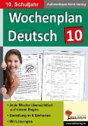 Cover-Bild zu Wochenplan Deutsch / Klasse 10