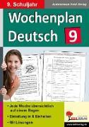 Cover-Bild zu Wochenplan Deutsch / Klasse 9