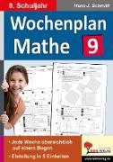 Cover-Bild zu Wochenplan Mathe / Klasse 9 von Schmidt, Hans-J.