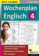 Cover-Bild zu Wochenplan Englisch 4 (eBook) von Vatter, Jochen
