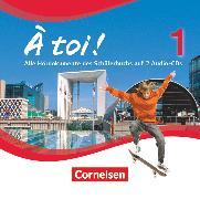 Cover-Bild zu À toi !, Vierbändige Ausgabe, Band 1, Audio-CDs von Gregor, Gertraud