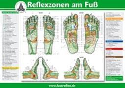 Cover-Bild zu Reflexzonen der Füße (Tafel A2) von Marquardt, Hanne