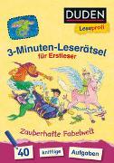 Cover-Bild zu Moll, Susanna: Duden Leseprofi - 3-Minuten-Leserätsel für Erstleser: Zauberhafte Fabelwelt