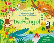 Cover-Bild zu Robson, Kirsteen: Mein erster Block zum Malen und Rätseln: Im Dschungel