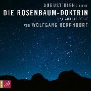 Cover-Bild zu Herrndorf, Wolfgang: Die Rosenbaum-Doktrin - und andere Texte (Audio Download)