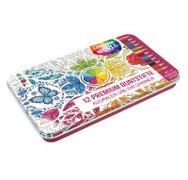 Cover-Bild zu frechverlag: Colorful World Designdose mit 12 Premium-Buntstiften