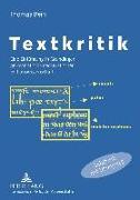 Cover-Bild zu Bein, Thomas: Textkritik (eBook)