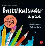 Cover-Bild zu Heye (Hrsg.): Bastelkalender schwarz groß 2022
