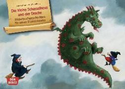 Cover-Bild zu Die kleine Schusselhexe und der Drache. Kamishibai Bildkartenset von Stohner, Anu