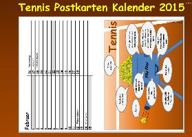 Cover-Bild zu Immerwährender TENNIS Postkarten KALENDER (kartonierte Ausgabe)