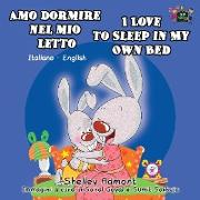 Cover-Bild zu Amo dormire nel mio letto I Love to Sleep in My Own Bed