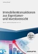 Cover-Bild zu Immobilientransaktionen aus Eigentümer- und Investorensicht - inkl. Arbeitshilfen online (eBook) von Bleuel, Andreas