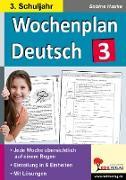 Cover-Bild zu Wochenplan Deutsch 3. Schuljahr (eBook) von Hauke, Sabine