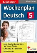 Cover-Bild zu Wochenplan Deutsch / Klasse 5 (eBook) von Hauke, Sabine