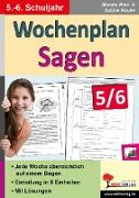 Cover-Bild zu Wochenplan Sagen / Klasse 5-6 (eBook) von Hauke, Sabine