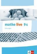 Cover-Bild zu mathe live. Lösungen 9 (G-Kurs). Ausgabe N, W und S ab 2014