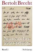 Cover-Bild zu Notizbücher 16-20 von Brecht, Bertolt