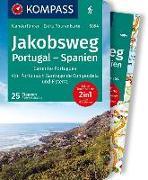 Cover-Bild zu KOMPASS Wanderführer Jakobsweg Portugal Spanien. 1:50'000 von Schwänz, Robert