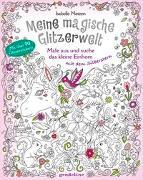 Cover-Bild zu Meine magische Glitzerwelt - Male aus und suche das kleine Einhorn mit dem Silberstern von gondolino Malen und Basteln (Hrsg.)
