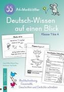 Cover-Bild zu 55 A4-Merkblätter Deutsch-Wissen auf einen Blick - Klasse 1 bis 4 von Mithra, Salome P.
