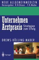 Cover-Bild zu Unternehmen Arztpraxis von Drews, Michael
